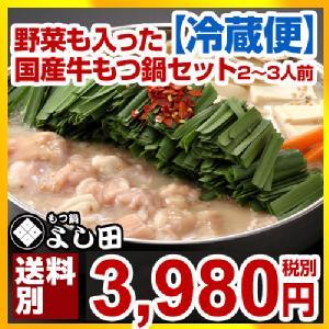 博多国産牛生もつ鍋セット(2~3人前)